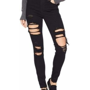 Levi's 721 High Rise Skinny in Black Cat Size 33Si